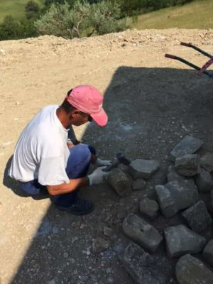 Selecting the Right Stones for a new stone house in Le Marche