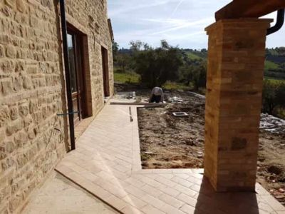 Sidewalk Behind House at a new house in Le Marche
