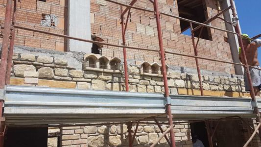 Some Dovecotes in Place on a new house in Le Marche, Italy