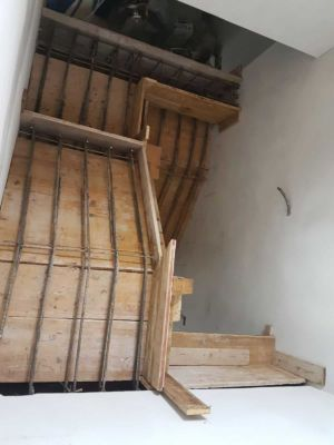 Stairway Base from Top Floor at a new house in Le Marche