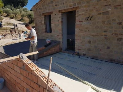 Terrazza at a new building site in Le Marche, Italy