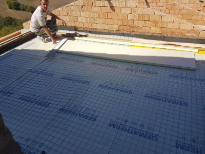 Terrazza Floor Ready for Concrete at a new building site in Le Marche, Italy