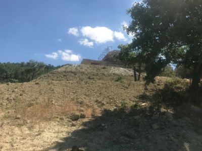 That Steep Hill at our building site in Le Marche