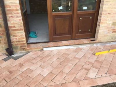 Tile Outside French Doors