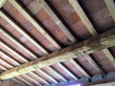 Top Floor Ceiling of a new house being built in Le Marche