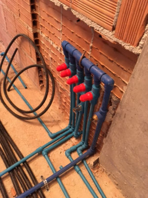 Underfloor Heating Junction installed in a new house in Le Marche