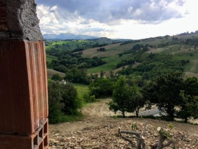 View from Master Bedroom of a new house in Le Marche