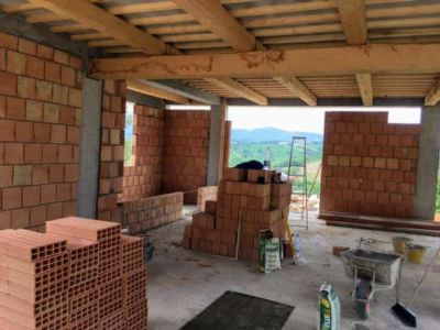 View from Master Bedroom Door of new house being constructed near Macerata, Le Marche