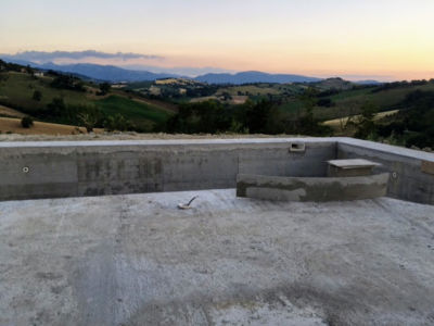 View from the Pool Terrazza at new house being built in Le Marche