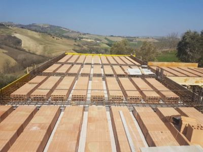 Poroton In Place at a new house structural build in Le Marche