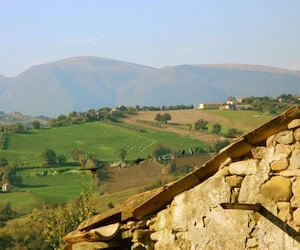 View from Casa Ideale, Marche