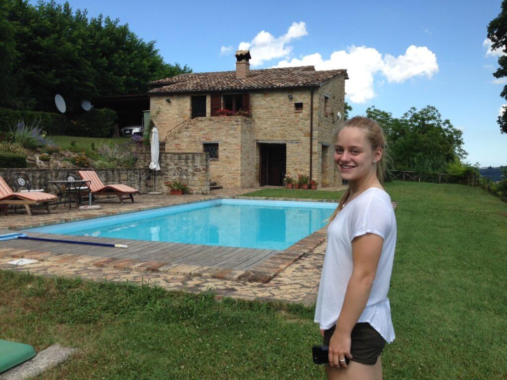 farmhouse with pool