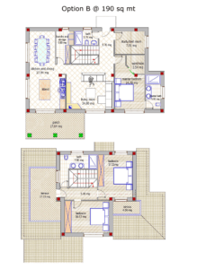 Italian house floor plan
