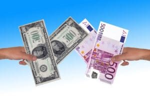dollars and euro exchange
