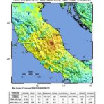 Map of October 2016 Italy earthquakes