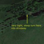 Access road via Google earth