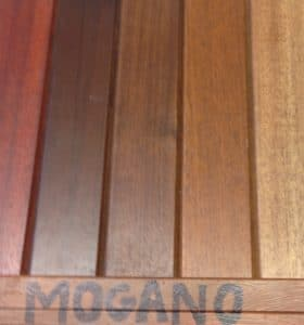 Available mahogany window stains and n Italy