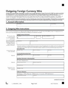 Foreign currency wire form