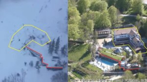 Rigopiano Hotel before and after avalanche