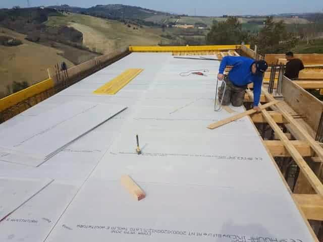 Underlayment panels in place