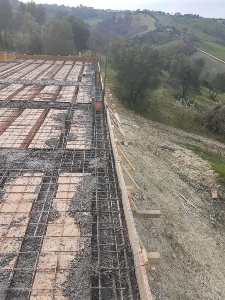 Heavy Rebar Around Perimeter at new house construction site in Le Marche
