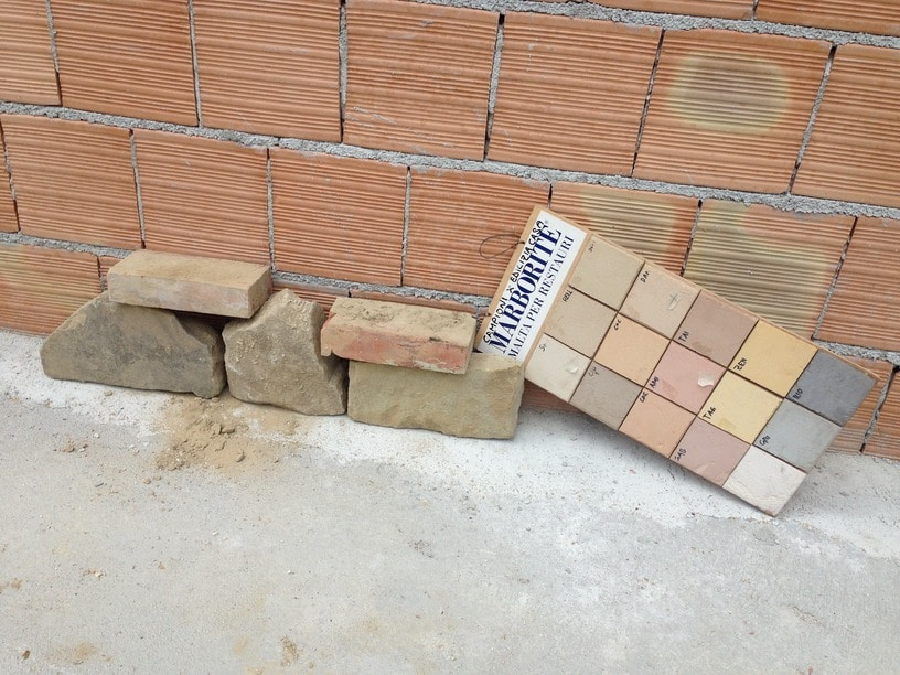 Brick Stone and Grout Options