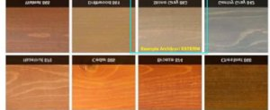 Lintel stain color