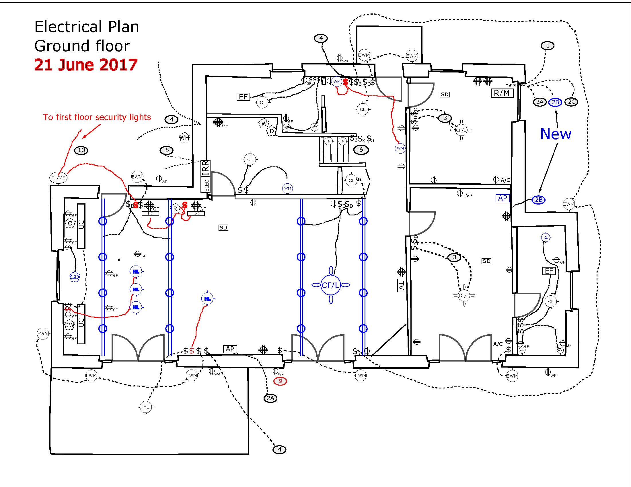 Updated Electrical Plans