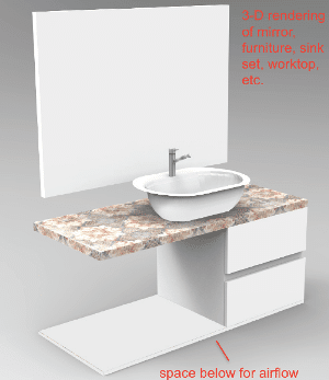 bathroom vanity concept