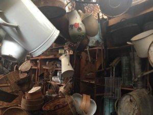 inside a junk shop