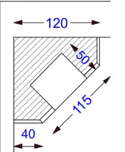 Top view of fireplace design