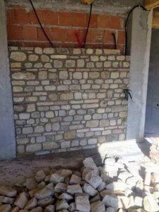 Interior Stone Wall Almost Done