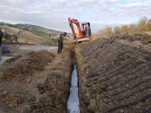 Drainage Ditch Being Filled