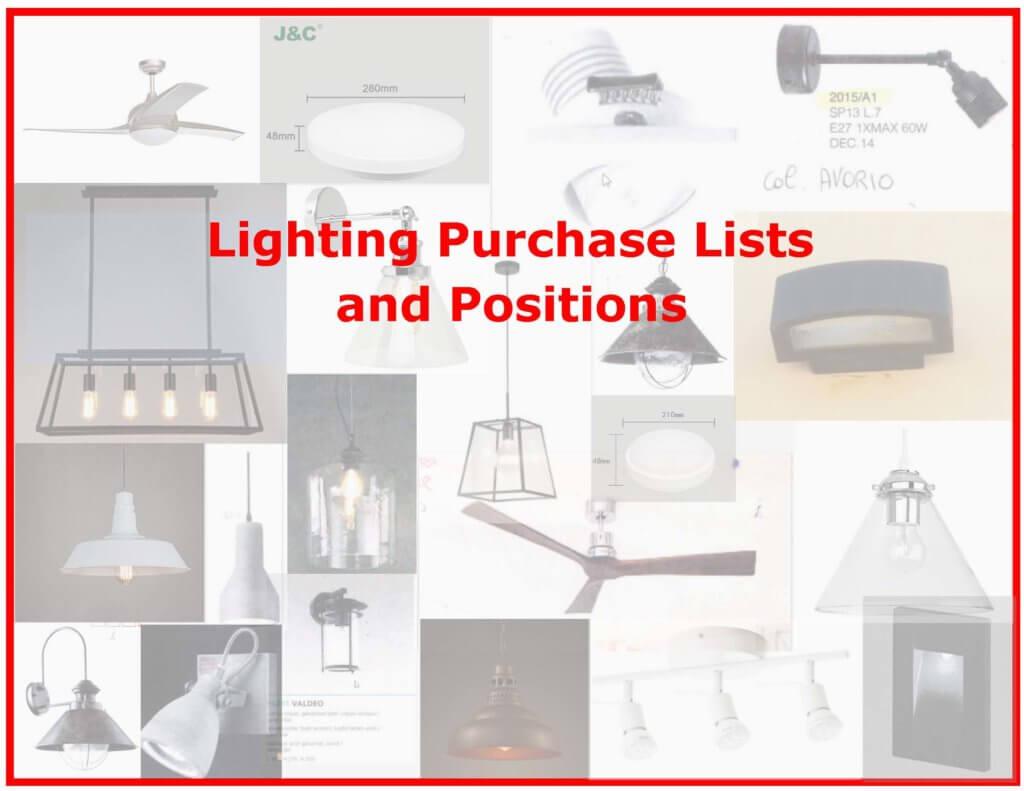 Final Lighting Selections