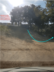 Place to Extend Parking Area at a new house in Le Marche
