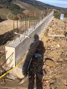 Base of the Retaining Wall