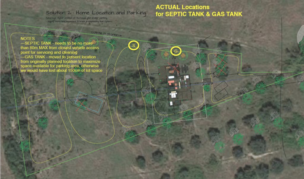 Gas and septic tank location