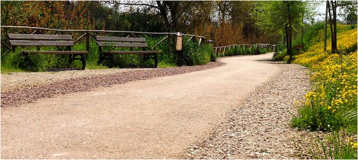 Compacted Red Gravel Driveway Example