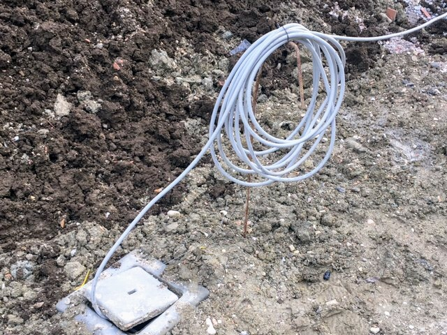 Temporary Electrical Supply Line