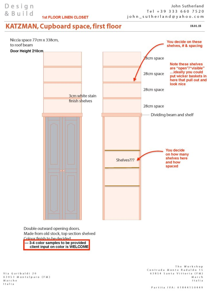 Linen Closet Proposed Layout