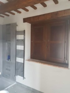 Master Bath Window with Shutters