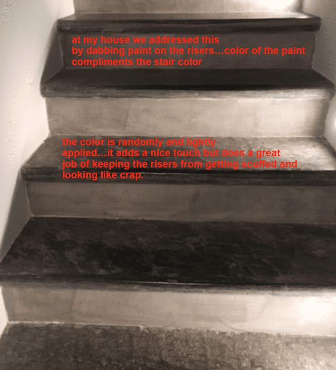 Reducing Stair Riser Scuff Marks Our Big Italian Adventure