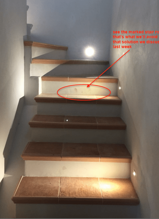 Awkwardly Placed Stair Light