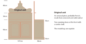 Drawing of Existing Walnut Cabinet