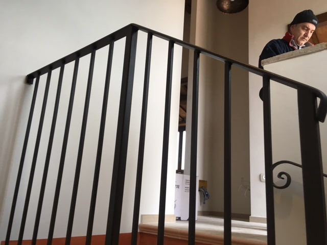 Stair Landing And Railing