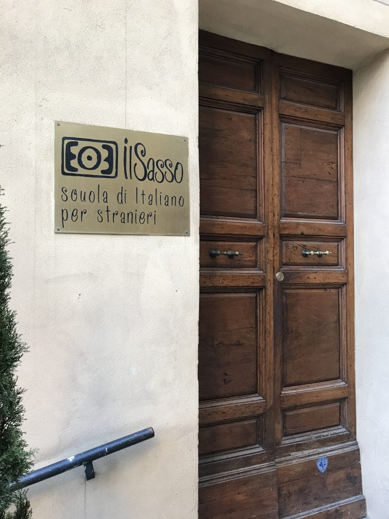 front door of Il Sasso Italian school