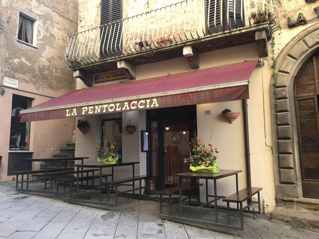 restaurant in Montepulciano Italy